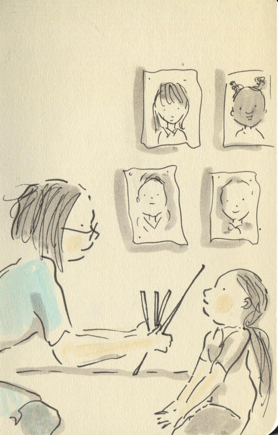 smile for the sketchbook